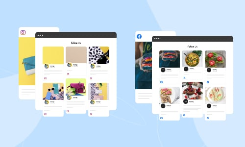 embed facebook and instagram feed