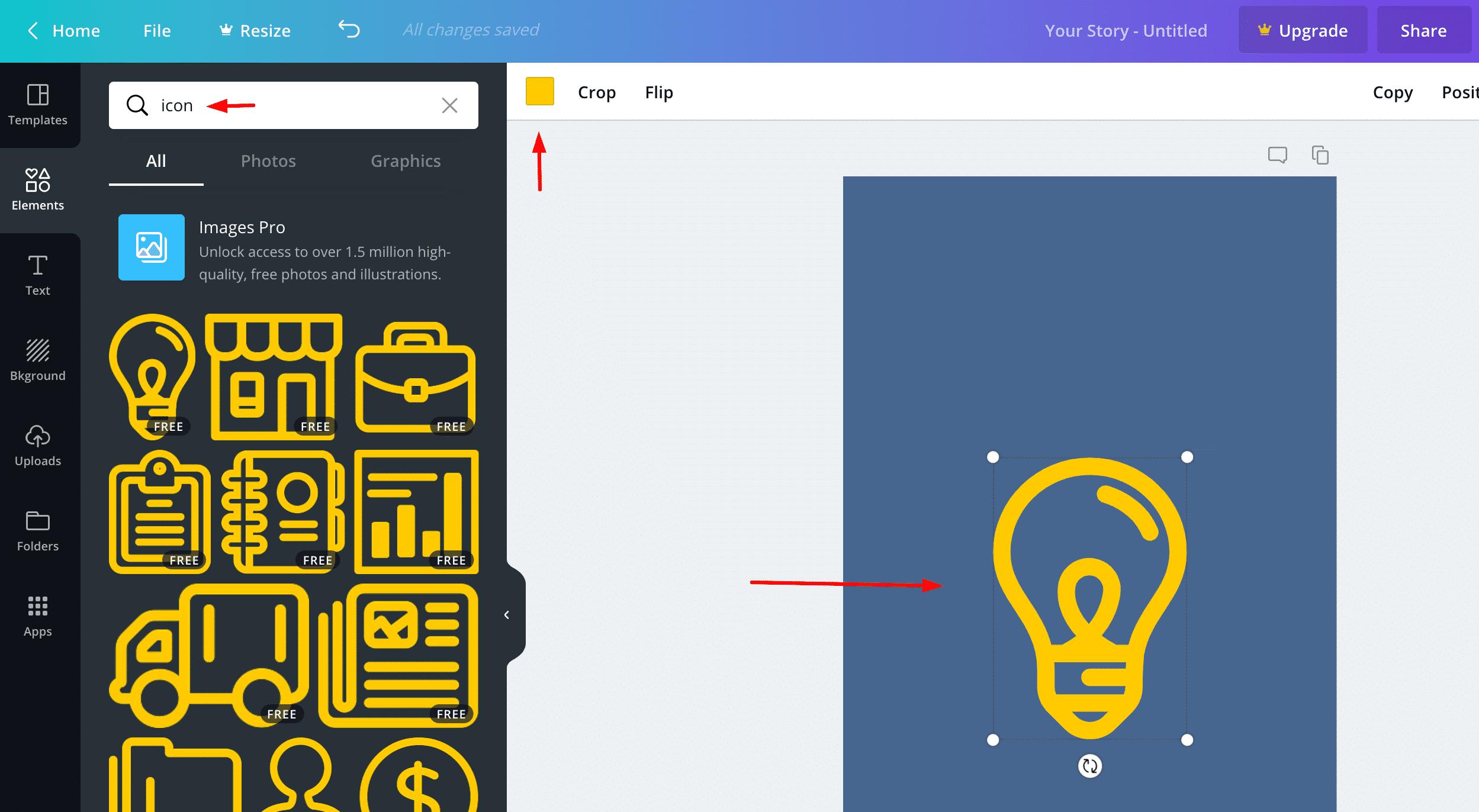 idesign highlights icon