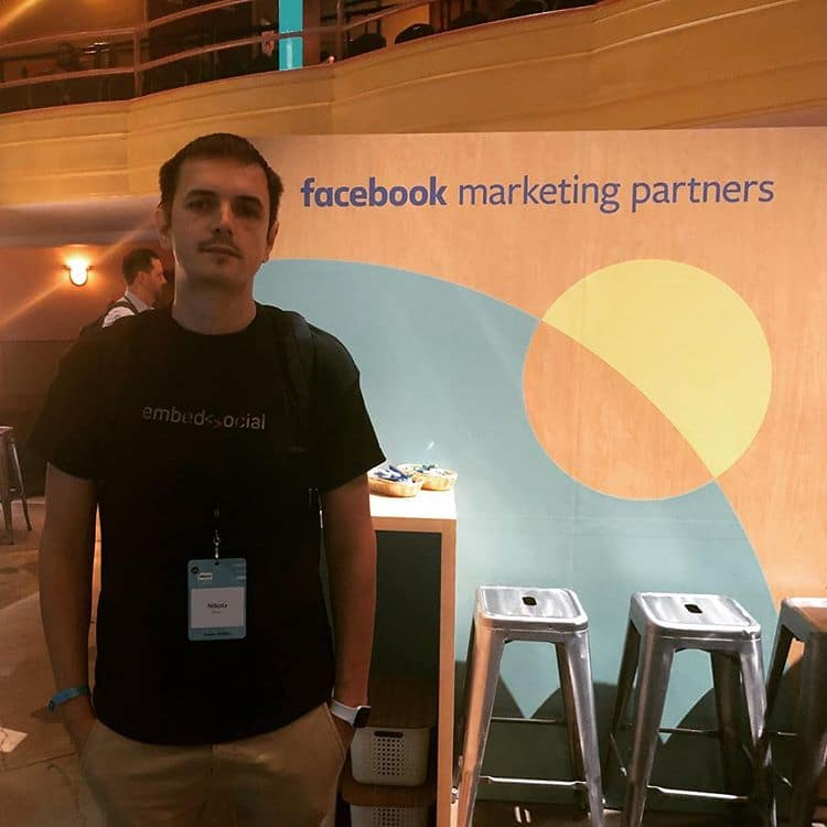 Nikola Bojkov at Facebook partner summit