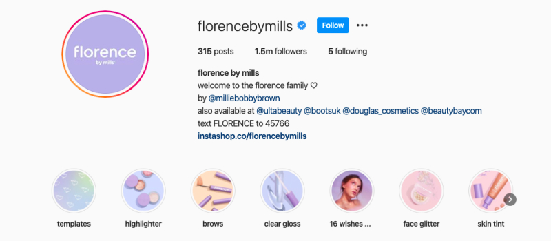 florence by mills instagram cover icons
