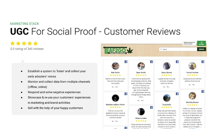 customer reviews ugc