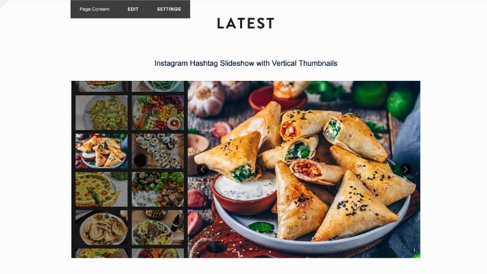 embed hashtag feed slideshow