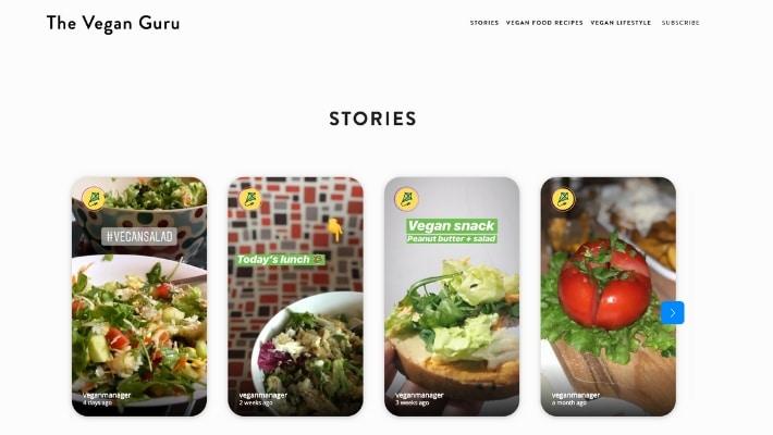 Instagram stories in Squarespace