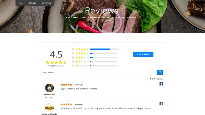 squarespace reviews widget