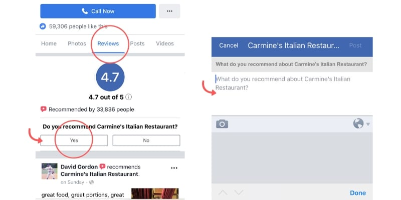 how to write facebook review
