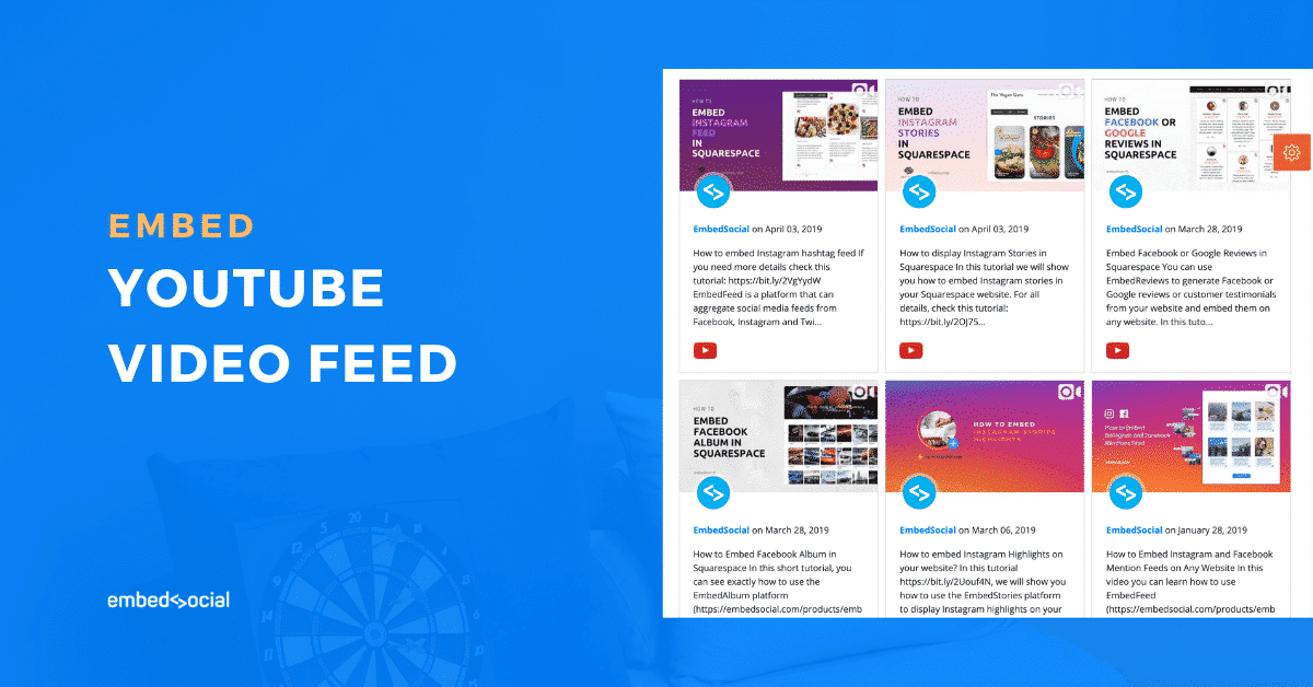 Embed youtube feed plugin