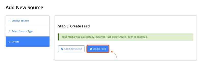 step create youtube feed
