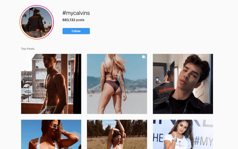 hashtag campaign Calvin Klein