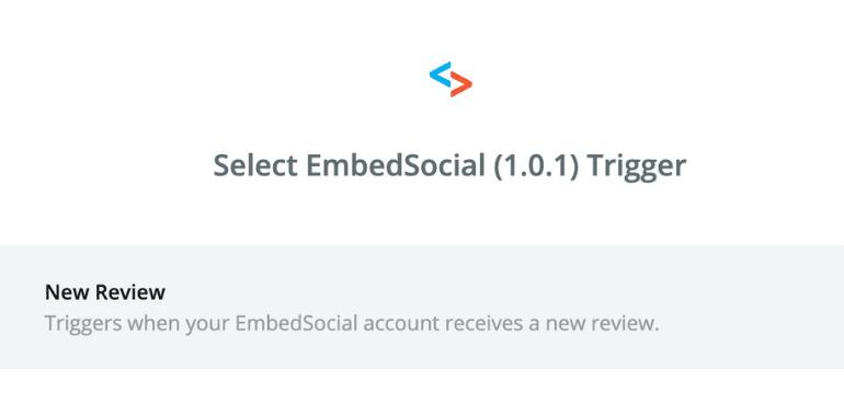 EmbedSocial zapier trigger