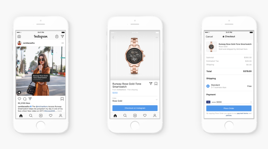 shop creators Instagram profile