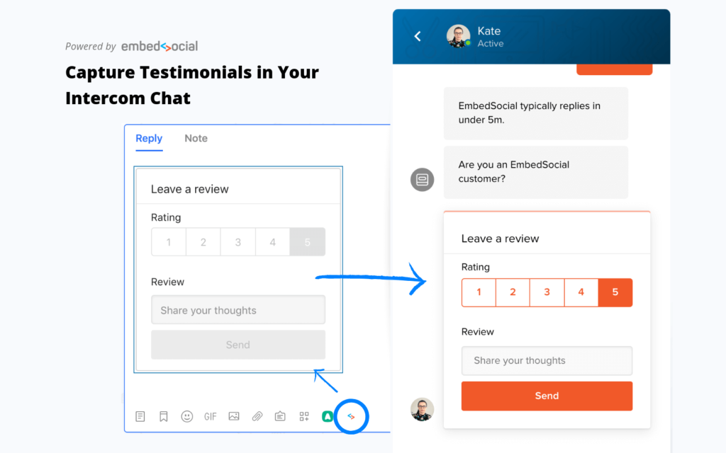 embedsocial intercom app