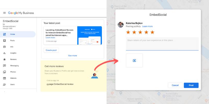 copy google reviews link