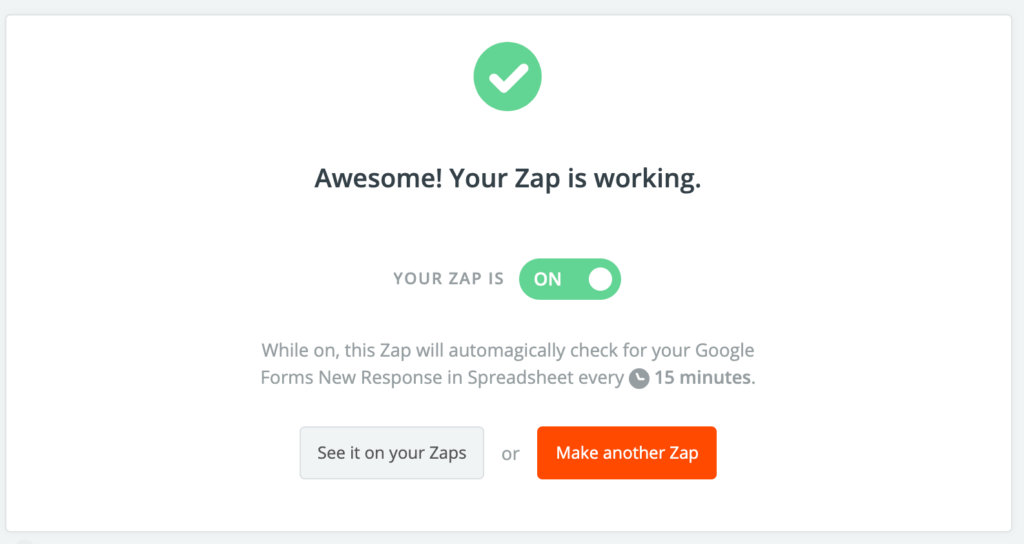 zapier confirmation