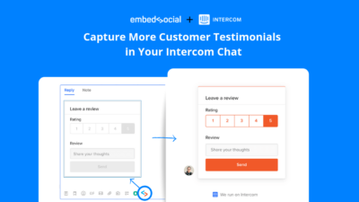 embedsocial intercom app testimonials