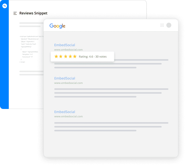 aggregated rating google stars