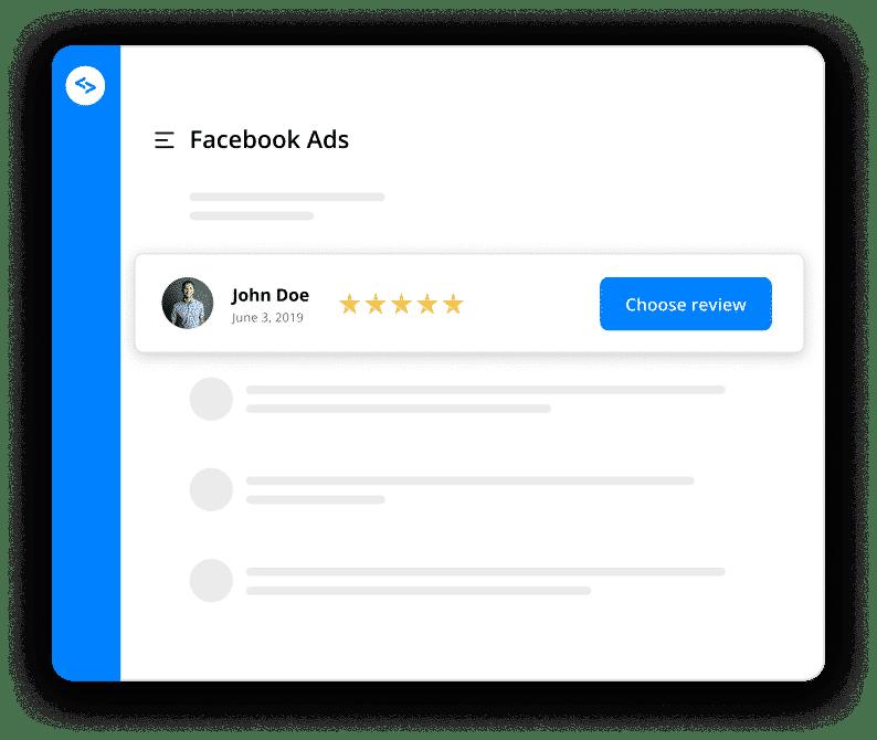 choose testimonial facebook ad