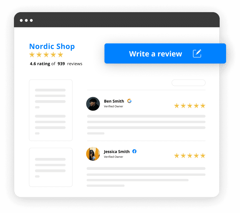 company reviews landing page