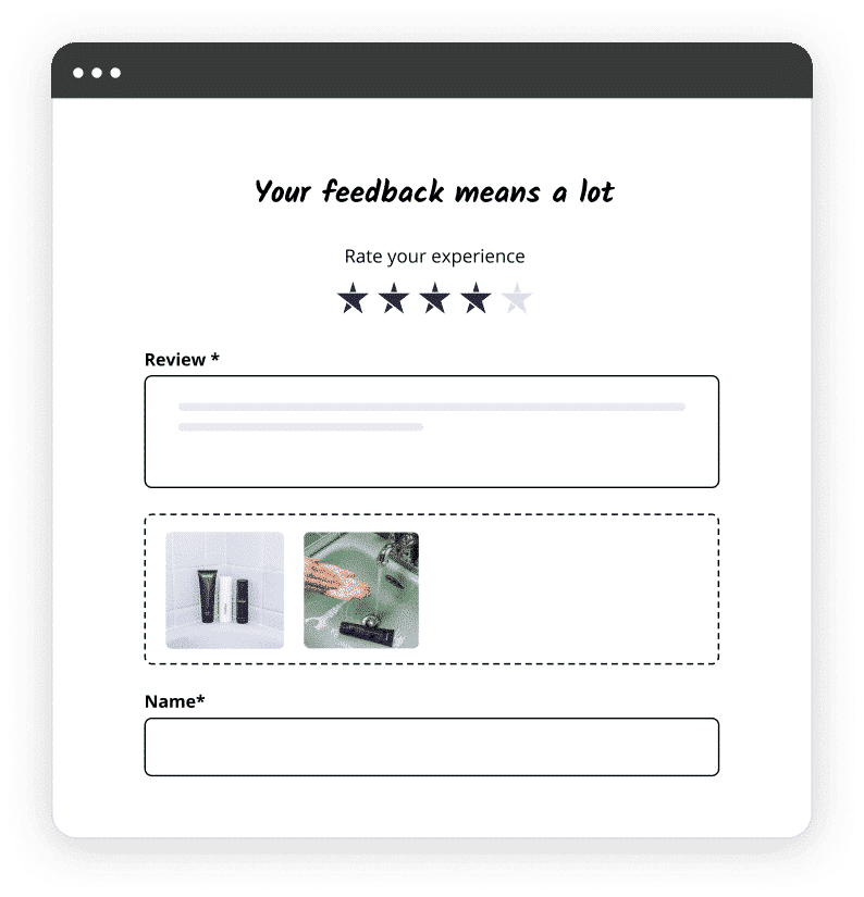 reviews website collect form