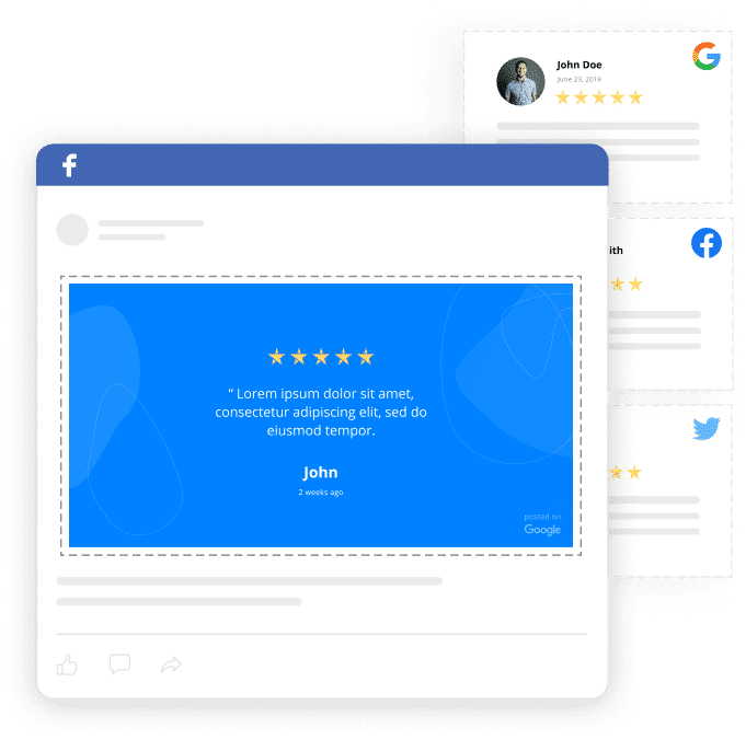 google reviews in facebook ads