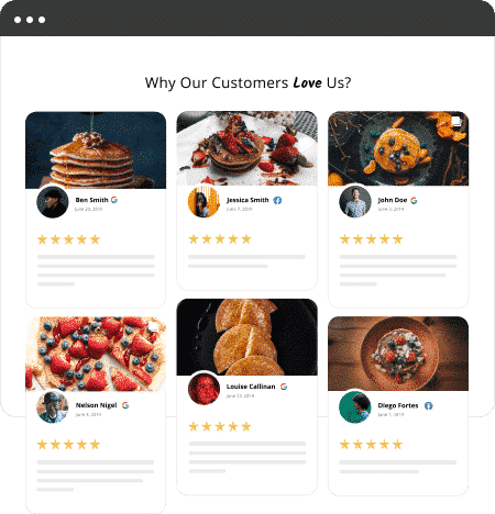 reviews website widget