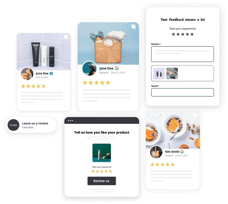 unlimited reviews widgets and collect forms