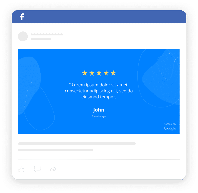 facebook testimonial ad preview