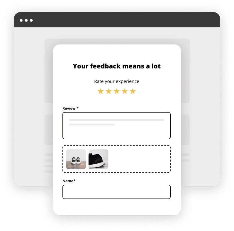 embed reviews collect form
