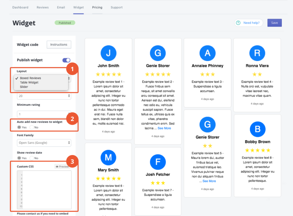 shopify testimonials reviews widget