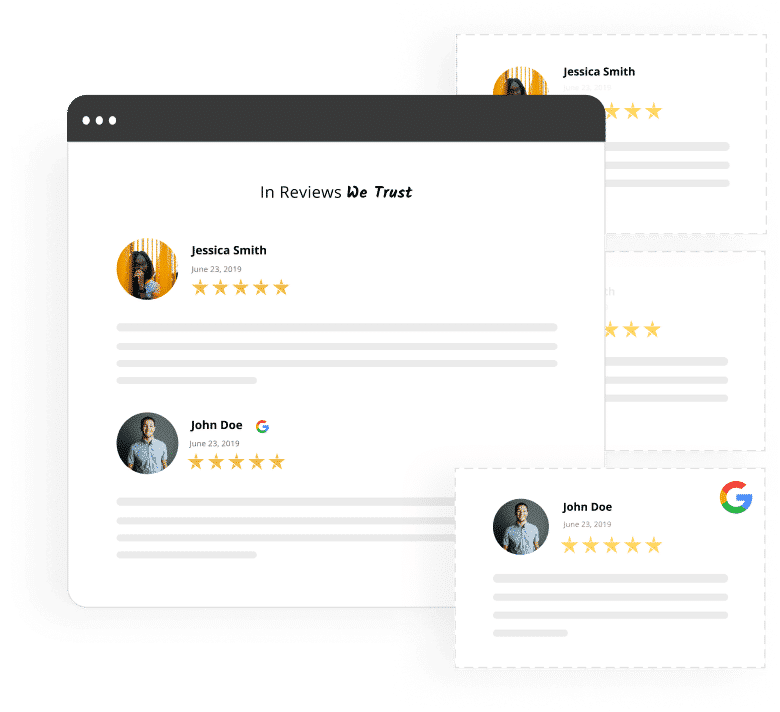 responsive testimonials and reviews widgets