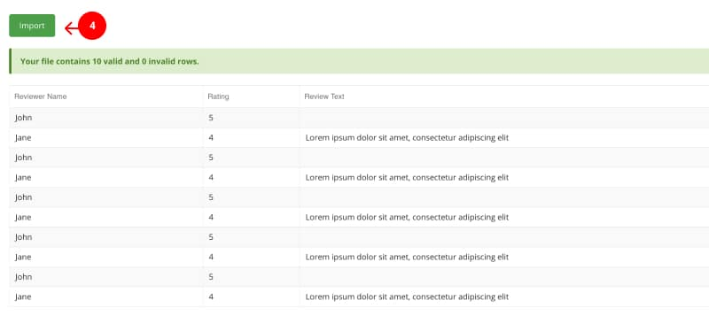 import reviews in embedreviews