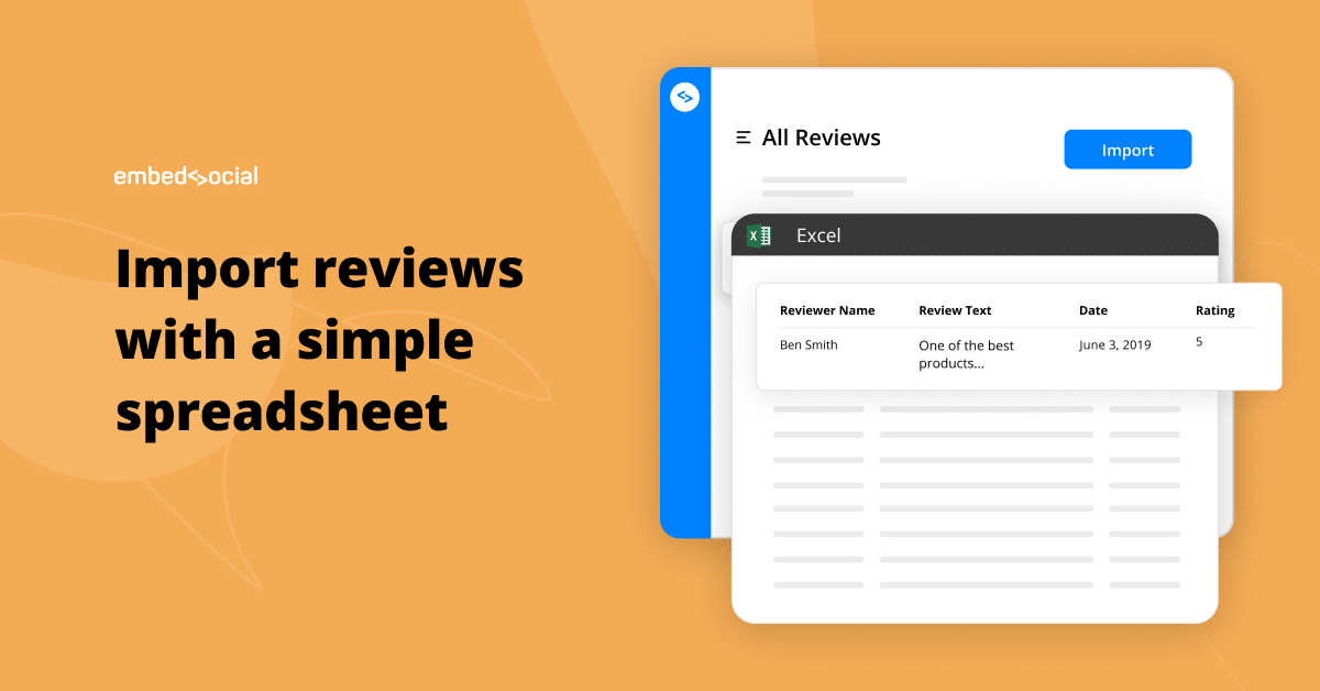 tool to import reviews from spreadsheet
