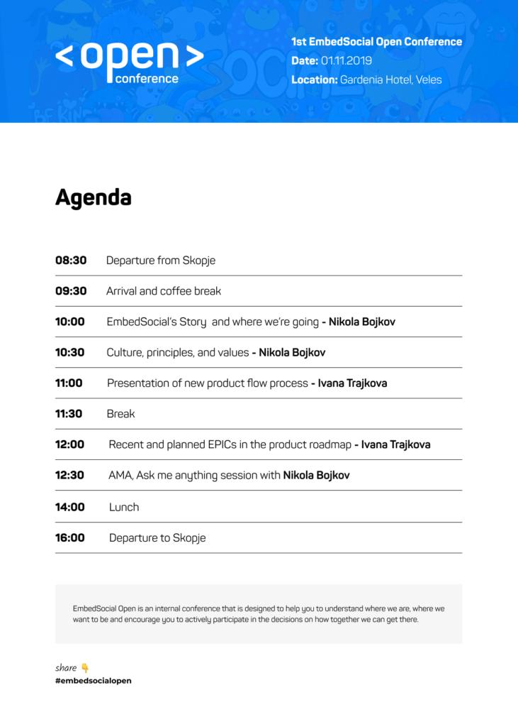 open conference agenda