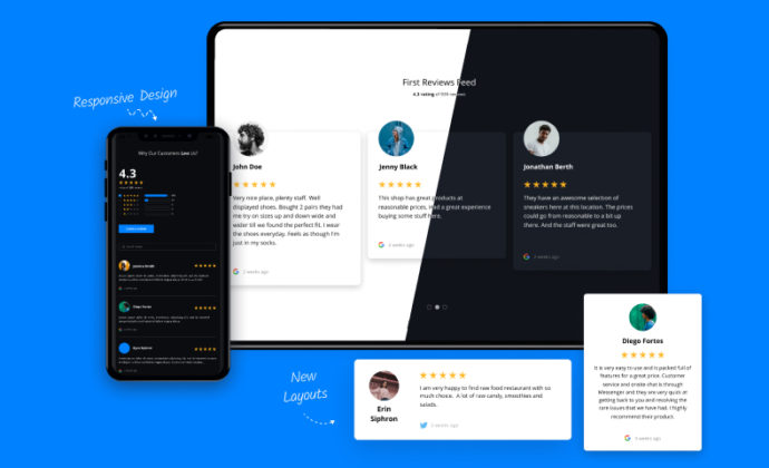 reviews widgets