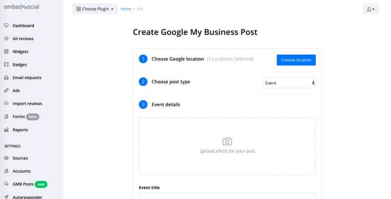 Google posts scheduler