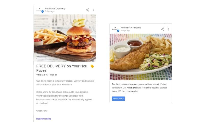 Google post example 1