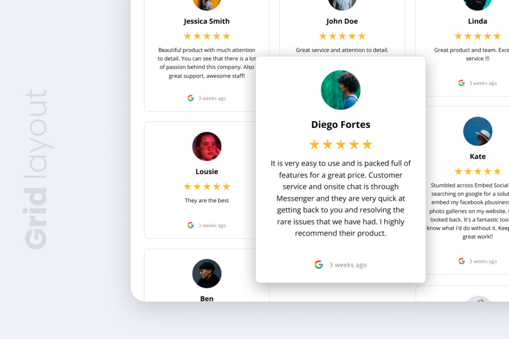 masonry reviews widget