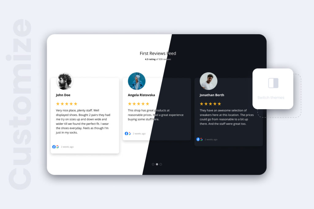 reviews widgets theme