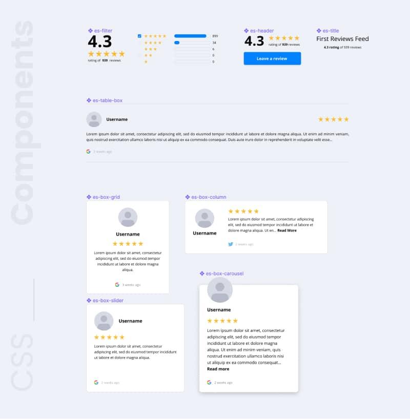 embedsocial widgets design system