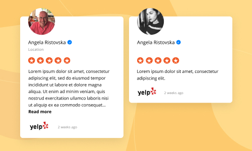 embed yelp reviews