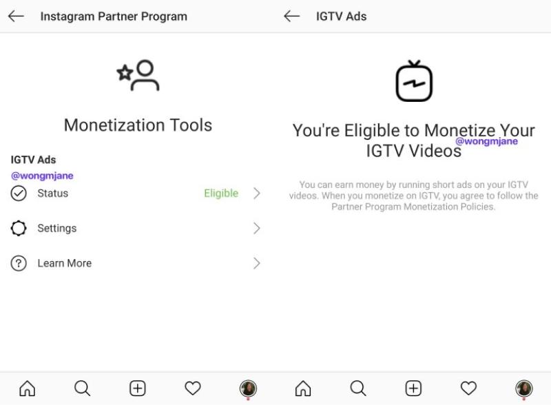 IGTV monetization feature