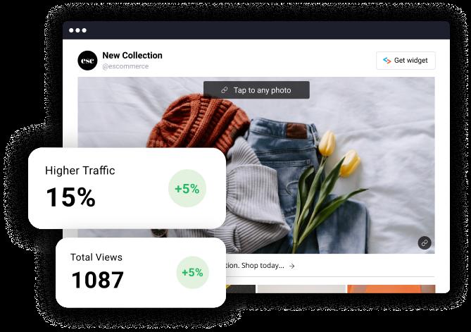 Instagram bio traffic analytics