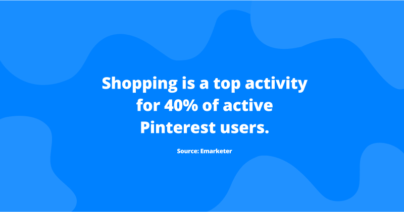 top activity statistics on pinterest