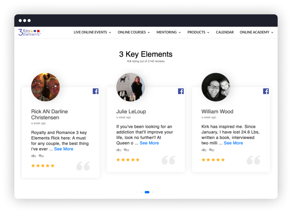 3 key elements reviews