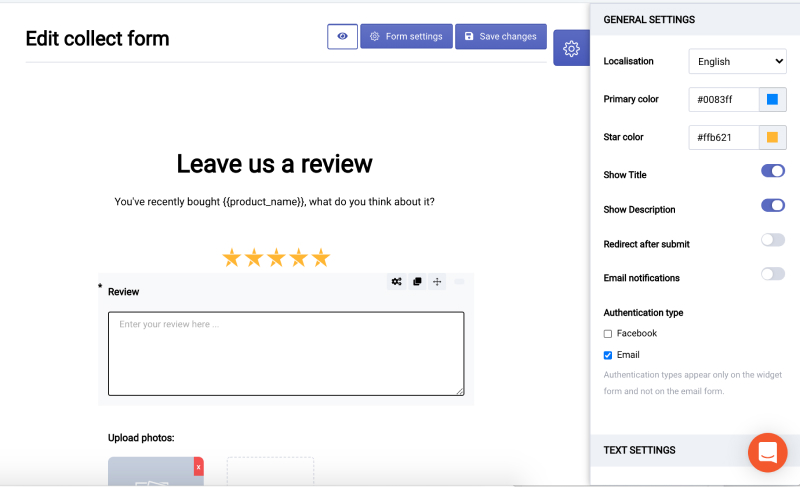 feedback form builder for shopify
