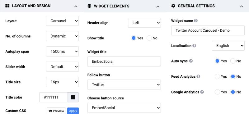 customize twitter widget