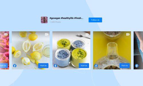 facebook feed slider template