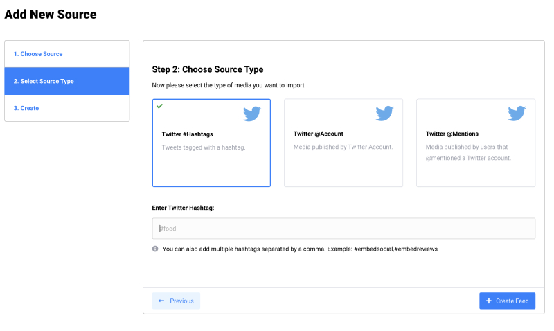 embed twitter feed step 3