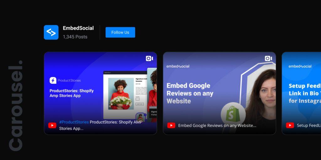 carousel social media widget