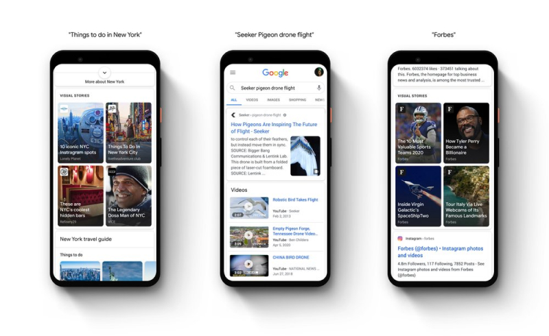 google stories placements
