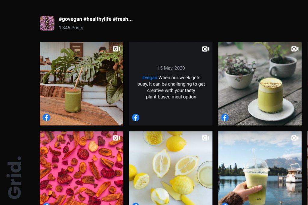 grid social media widget